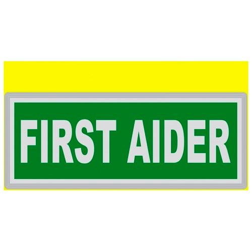 FIRST AIDER Encapsulated Reflective Badge