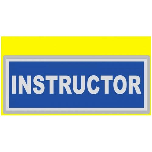 INSTRUCTOR Encapsulated Reflective Badge