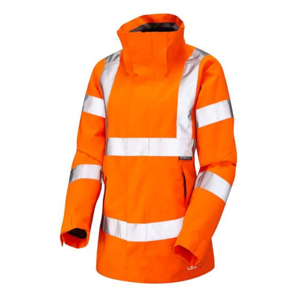 Leo Workwear JL04-O Hi Vis Rosemoor Ladies Breathable Jacket Orange
