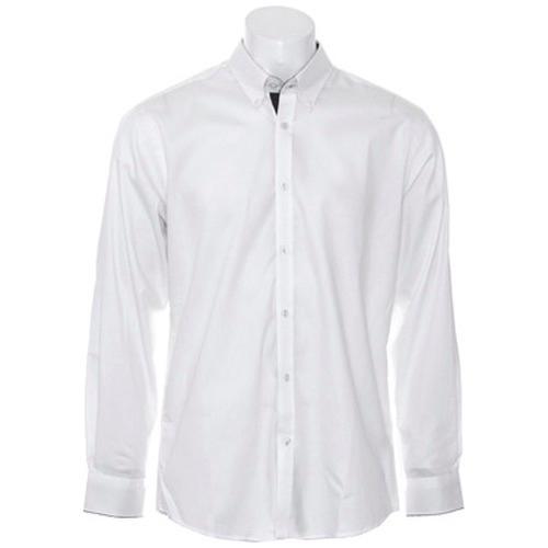 b2bb09896d3 Kustom Kit KK190 Contrast Premium Oxford Shirt Button Down Collar ...