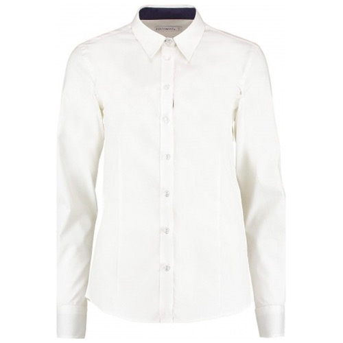 Kustom Kit KK790 Women's Contrast Premium Oxford Shirt Long Sleeve