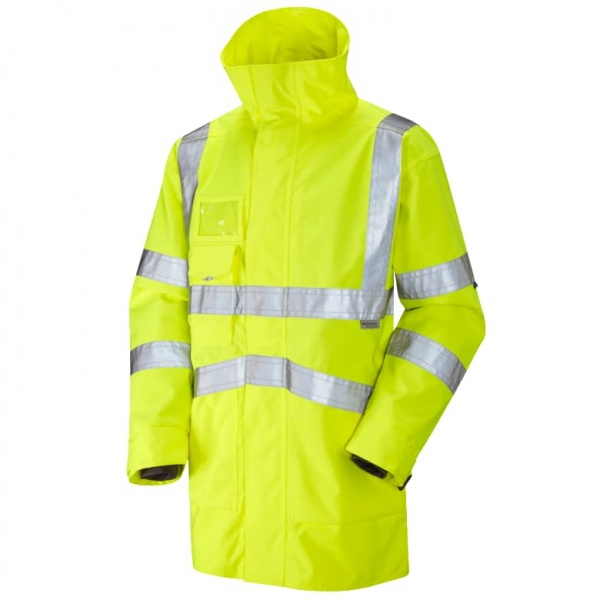 Leo Workwear A04-Y Clovelly Executive Hi Vis Jacket Yellow