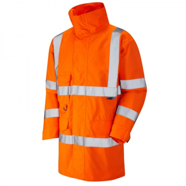 Leo Workwear A06-O Torridge Lightweight Hi Vis Jacket Orange