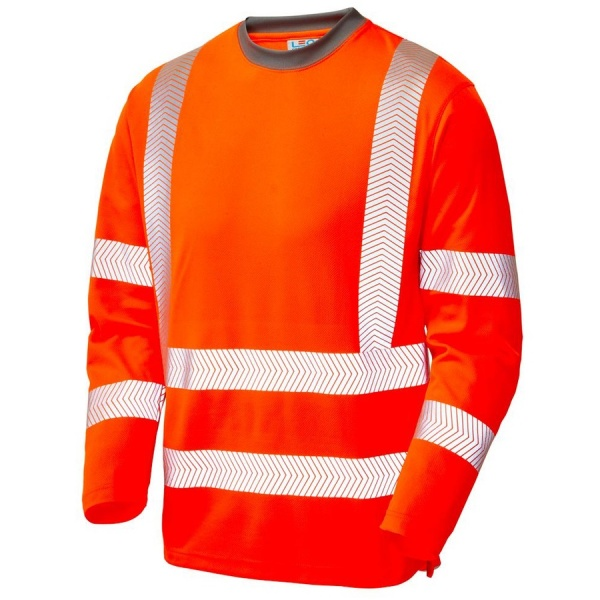 Leo Workwear T08-O Capstone Coolviz Plus Hi Vis T Shirt Orange