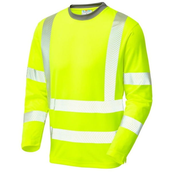 Leo Workwear T08-Y Capstone Coolviz Plus Hi Vis T-Shirt Yellow