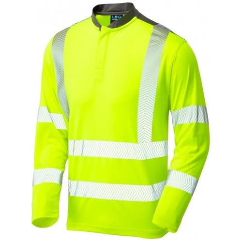 Leo Workwear T13-Y Watermouth Long Sleeve Performance Coolmax T-Shirt Yellow