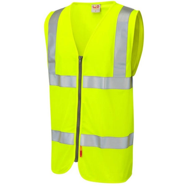 Leo Workwear W23-Y Meeth Class 2 LFS Waistcoat Yellow