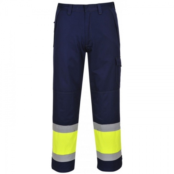 Portwest MV26 Modaflame Yellow / Navy Hi Vis Trousers