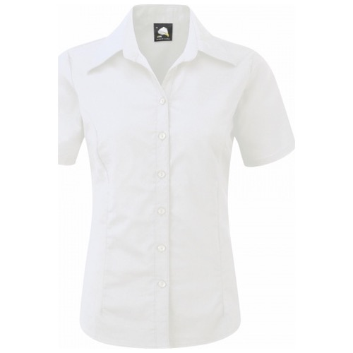 ORN Clothing The Classic Oxford 5550 Short Sleeve Blouse 70% Cotton / 30% Polyester 130gsm