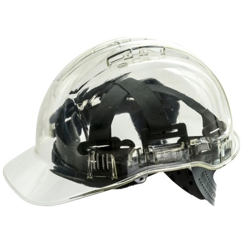 Portwest PV50 Peak View Translucent Vented Safety Hard Hat Helmet
