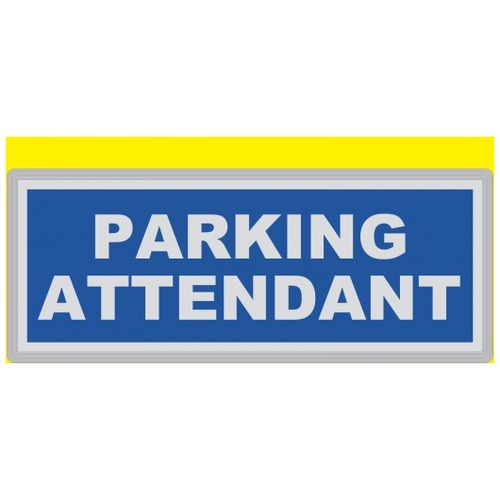 PARKING ATTENDANT Encapsulated Reflective Badge