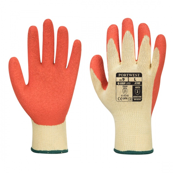 Portwest A100 Grip Gloves Latex