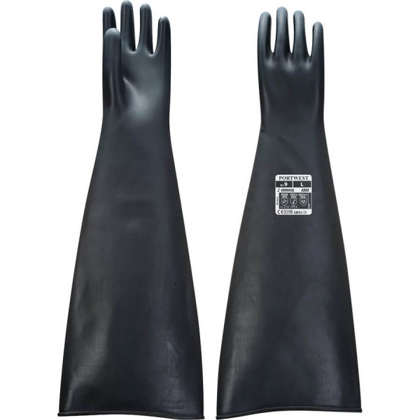 Portwest A803 Heavyweight Latex Rubber Gauntlet 60cm