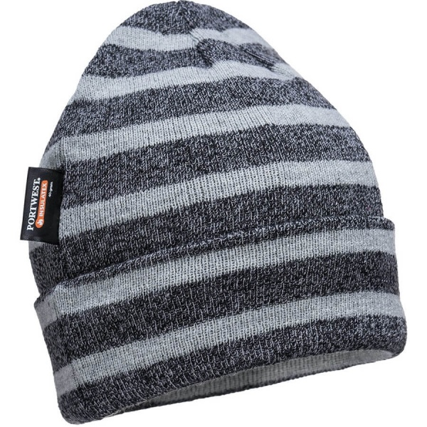 Portwest B024 Striped Insulated Knit Cap, Insulatex Lined