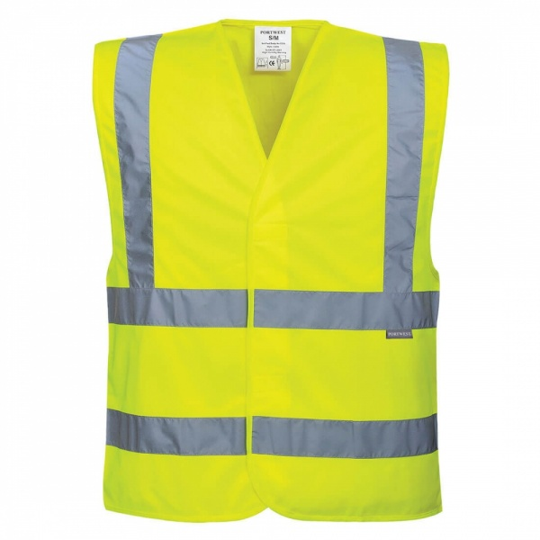 Portwest C470 Hi-Vis Two Band & Brace Vest Yellow