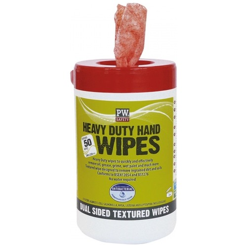 Portwest IW30 Heavy Duty Hand Wipes (50 Wipes)