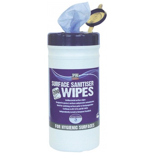 Portwest IW50 Surface Sanitiser Wipes (200 Wipes)