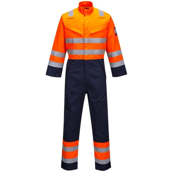 Portwest MV29 MODAFLAME RIS Navy/Orange Coverall