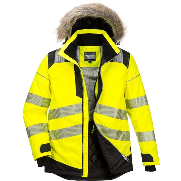 Portwest PW369 PW3 Hi-Vis Winter Parka Jacket