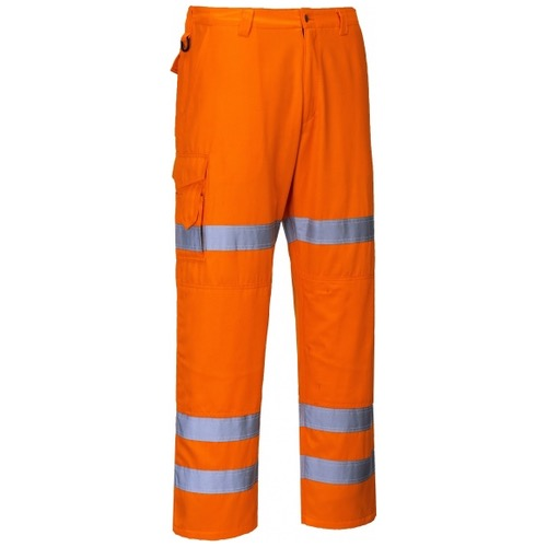 Portwest RT47 Rail Action Orange Hi Vis Trousers