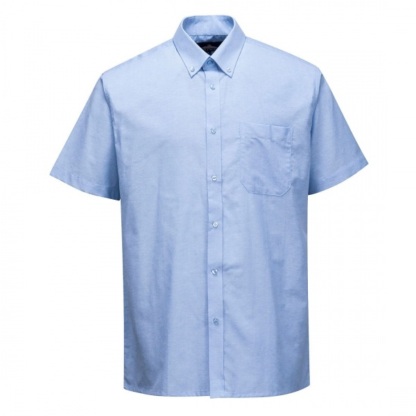 Portwest S118 Easycare Oxford Shirt Short Sleeves Blue