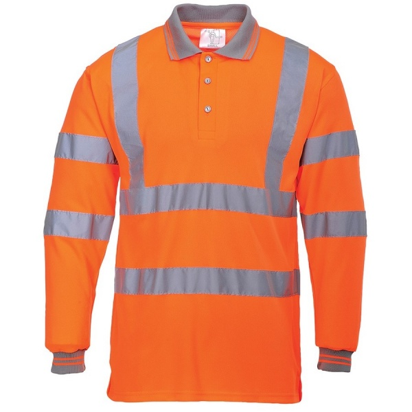 Portwest S277 Hi Vis Long Sleeved Polo Shirt