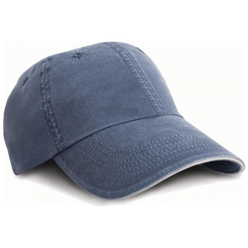 RESULT RC054X Washed Fine Line Cotton Cap with Sandwich Peak