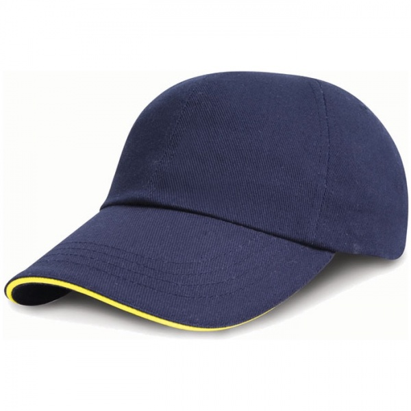 RESULT RC024P Low Profile Heavy Brushed Cotton Cap with Sandwich Peak
