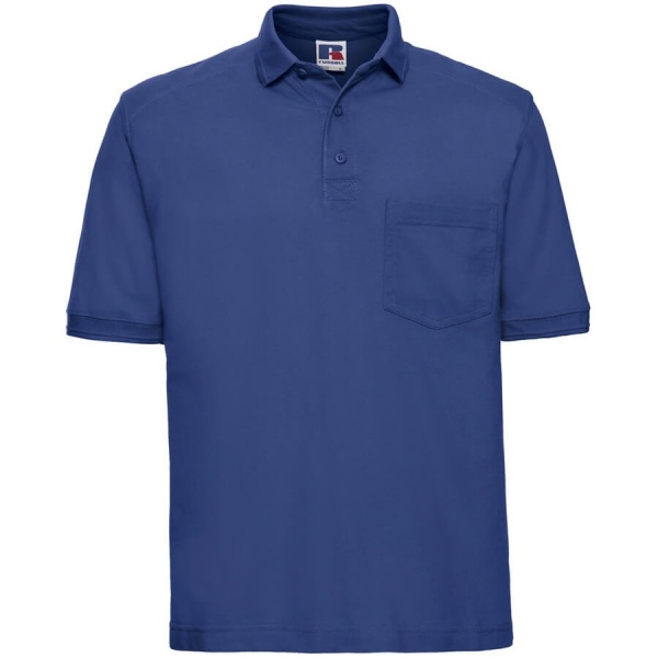 Russell 011M 100% Cotton Heavy Duty Workwear Polo Shirt 215gsm