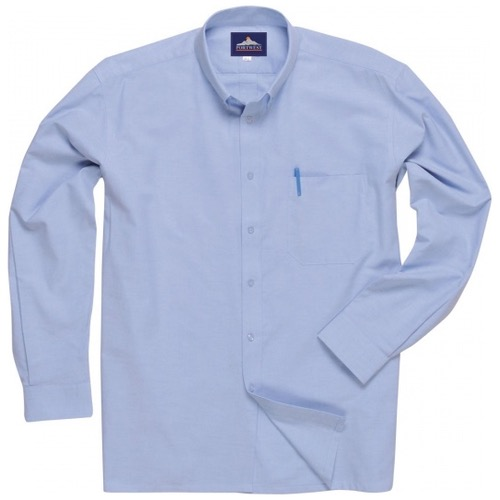 Portwest S117 Easycare Oxford Shirt Long Sleeves Blue
