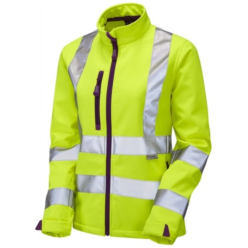 Leo Workwear SJL01-Y Hi Vis HONEYWELL Ladies Softshell Jacket Yellow