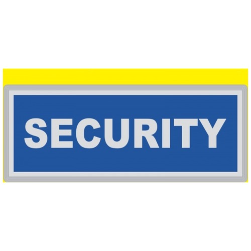 SECURITY Encapsulated Reflective Badge