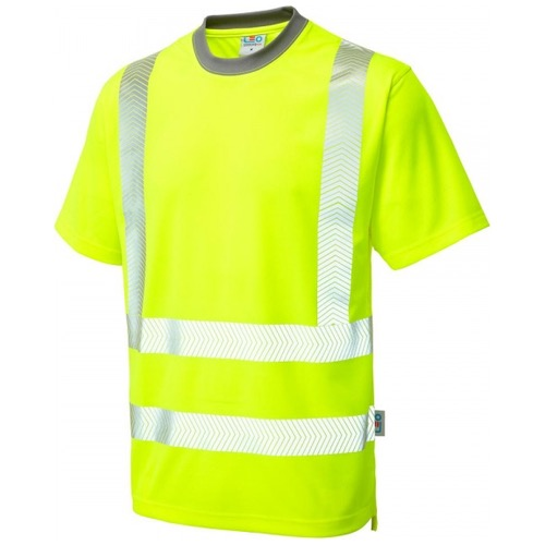 Leo Workwear T03-Y Larkstone Class 2 Coolviz Plus T-shirt Yellow