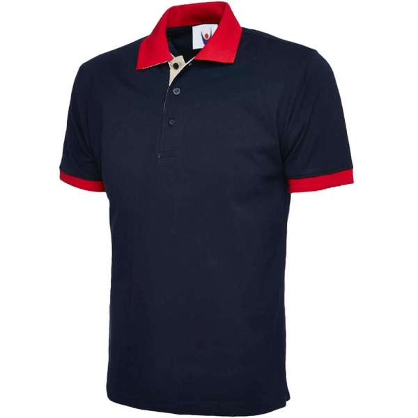 Uneek UC107 100% Combed Cotton Contrast Polo Shirt 250gsm