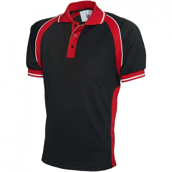 Uneek UC123 Sports 100% Polyester Pique Knit Polo Shirt 180gsm