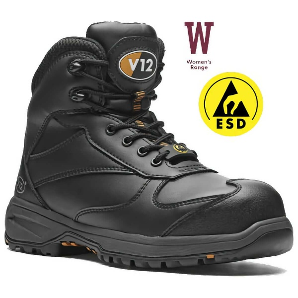 V12 Footwear V1925 Octane IGS Metal Free Women's Hiker Safety Boots