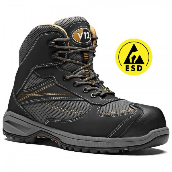 V12 Footwear V1940 Torque IGS Metal Free and Leather Free ESD Vegan Hiker Safety Boots
