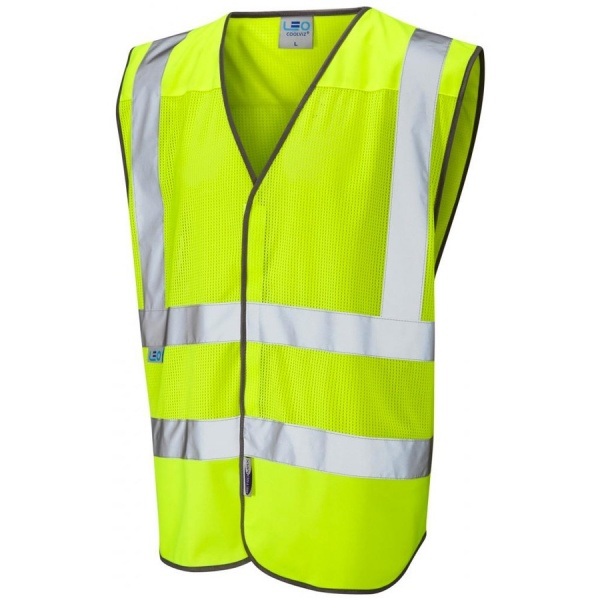 Leo Workwear W04-Y Coolviz Hi Vis Mesh Vest Yellow