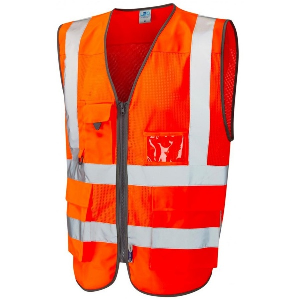 Leo Workwear W20-O Cobbaton Coolviz Superior Vest Orange