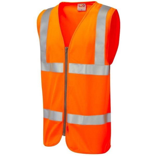 Leo Workwear W23-O Meeth Class 2 LFS Waistcoat Orange