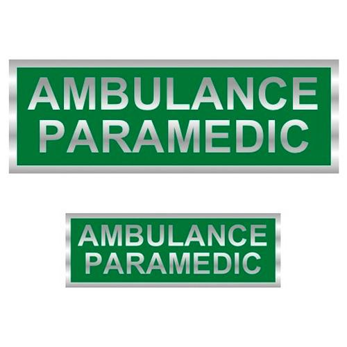 Ambulance Paramedic Reflective Badge (Back & Front)