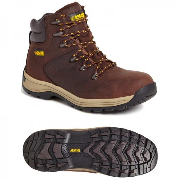 Apache Workwear AP315CM Nubuck Water Resistant S3 SRA Safety Hiker Brown