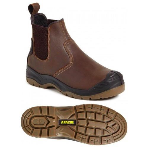Apache Workwear AP715SM Brown Safety Dealer Boot
