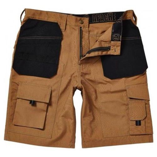 Apache Workwear Holster Pocket Shorts Stone