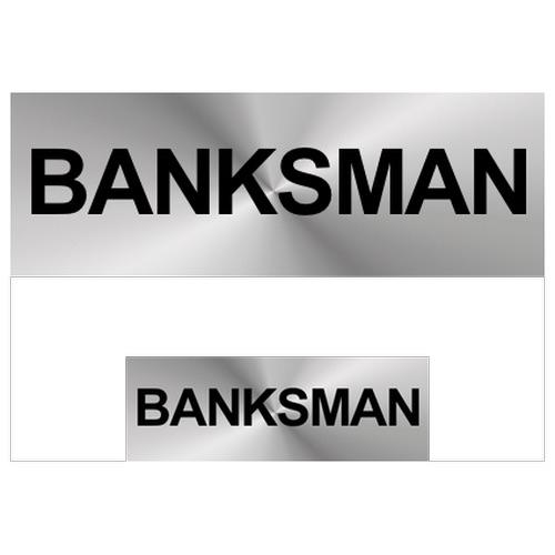Banksman Reflective Badge (Front & Back)