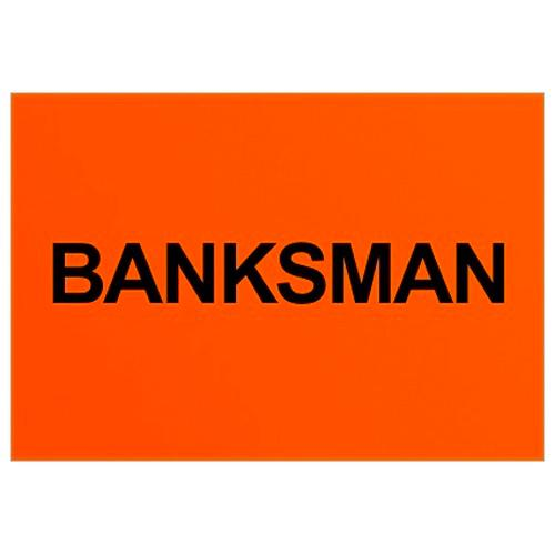 Banksman Text Badge (Back only)