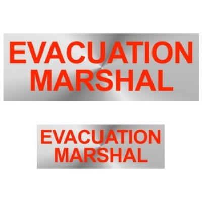 Evacuation Marshal Badges Reflective with Red (Back & Front print)