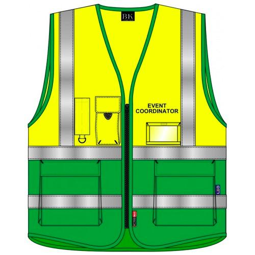 Event Coordinator Hi Vis Waistcoat Yellow and Green