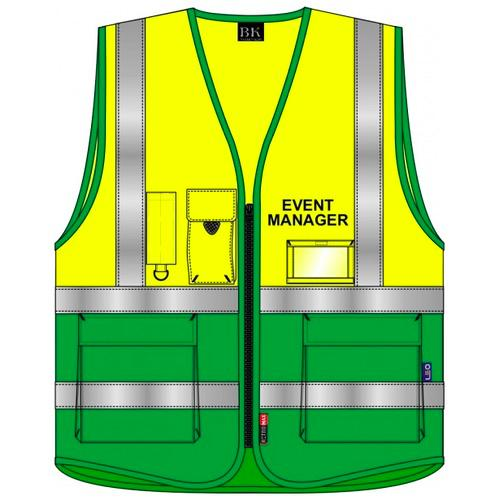 Event Manager Hi Vis Waistcoat Yellow and Green