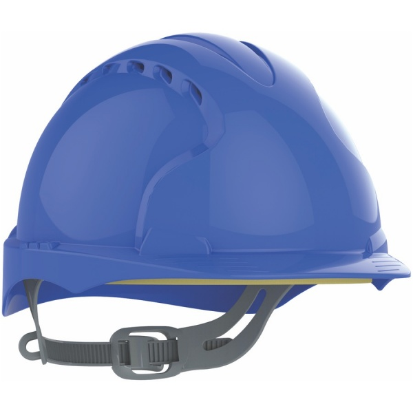 EVO2® Mid Peak Ventilated One Touch Slip Ratchet Blue Hard Hat